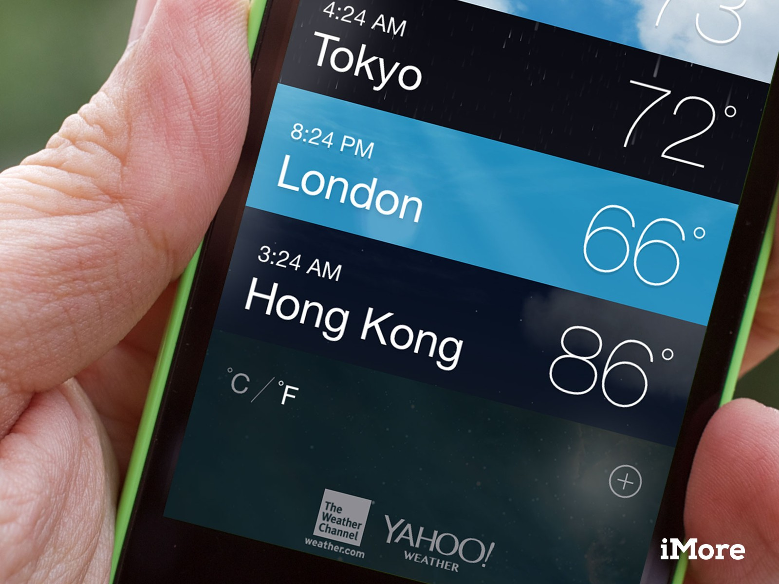 How to switch between celsius and fahrenheit in Weather for iPhone