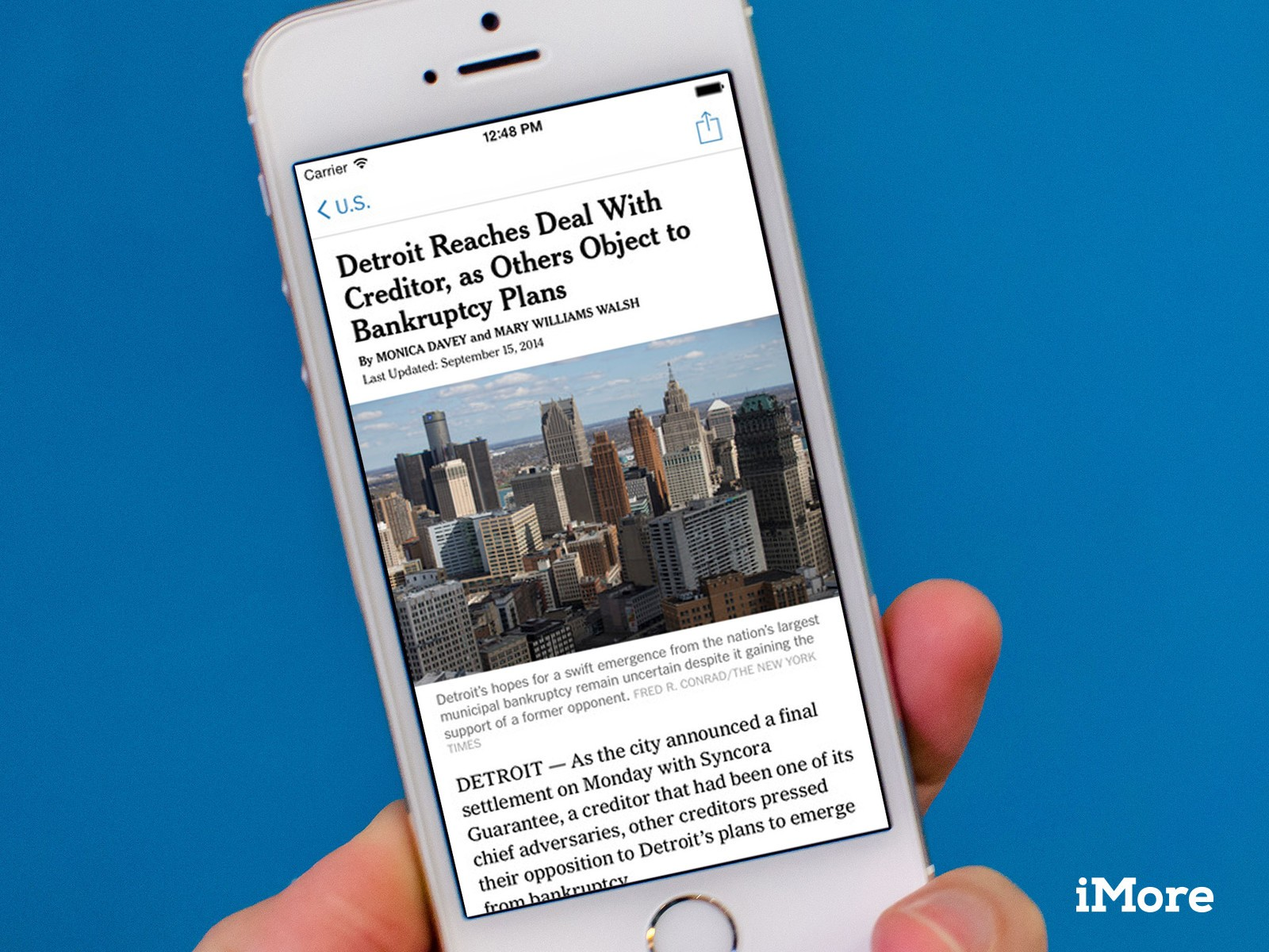 New York Times Updated For Ios 8 Includes Handoff Support Imore