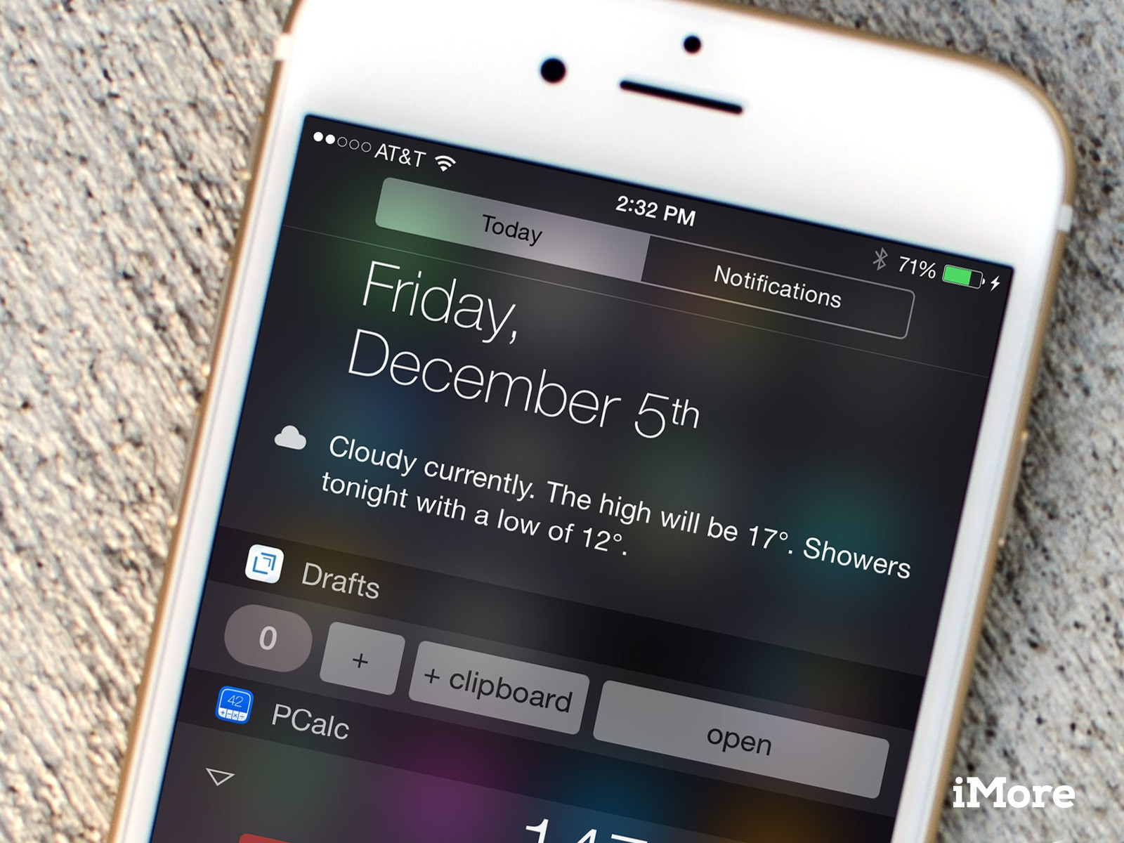 Drafts, and what's happening with iOS 8 widgets