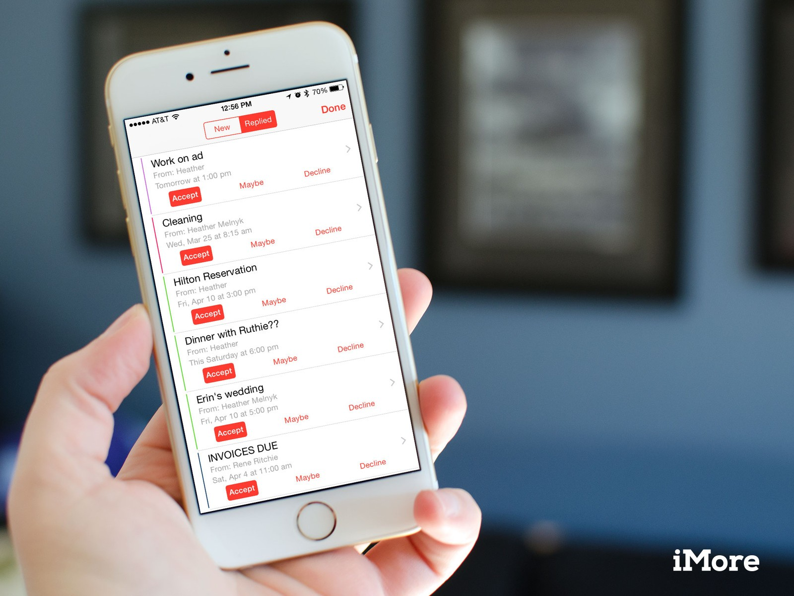 How to view, manage, and change replies to shared Calendar events on iPhone and iPad