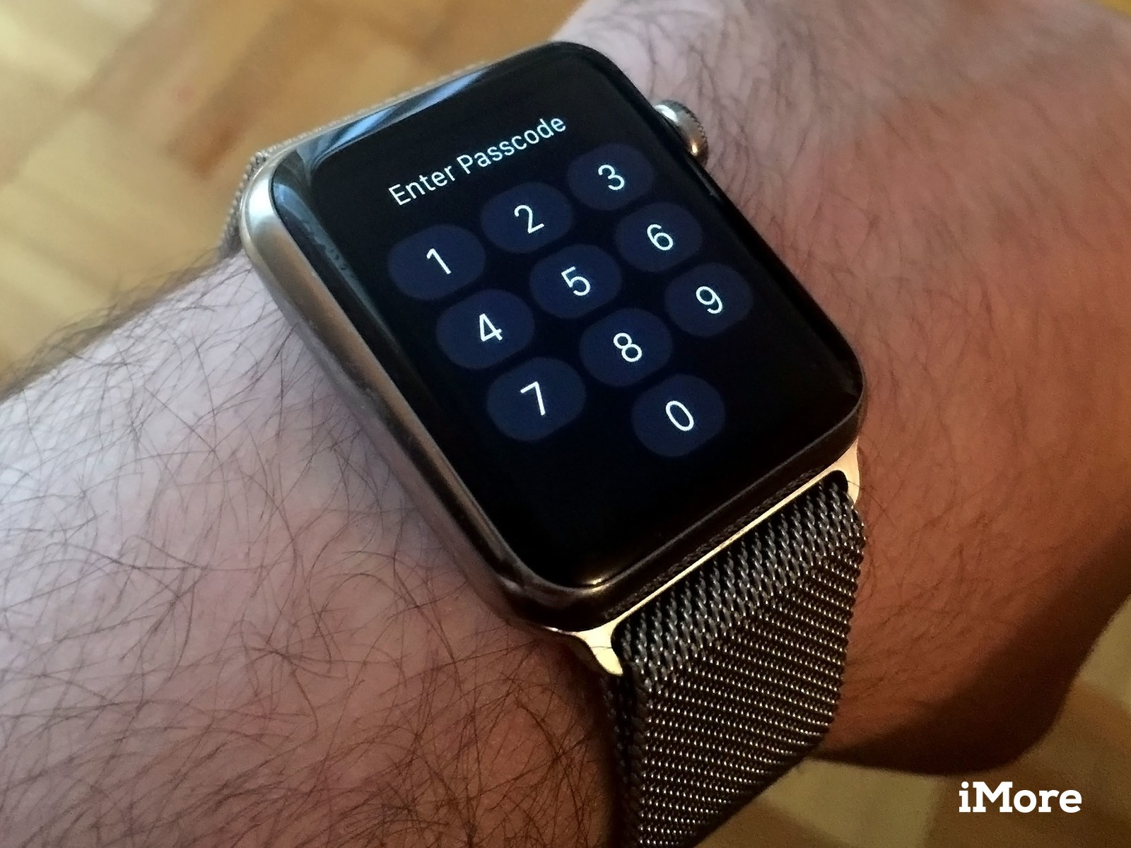 Apple Watch passcode screen