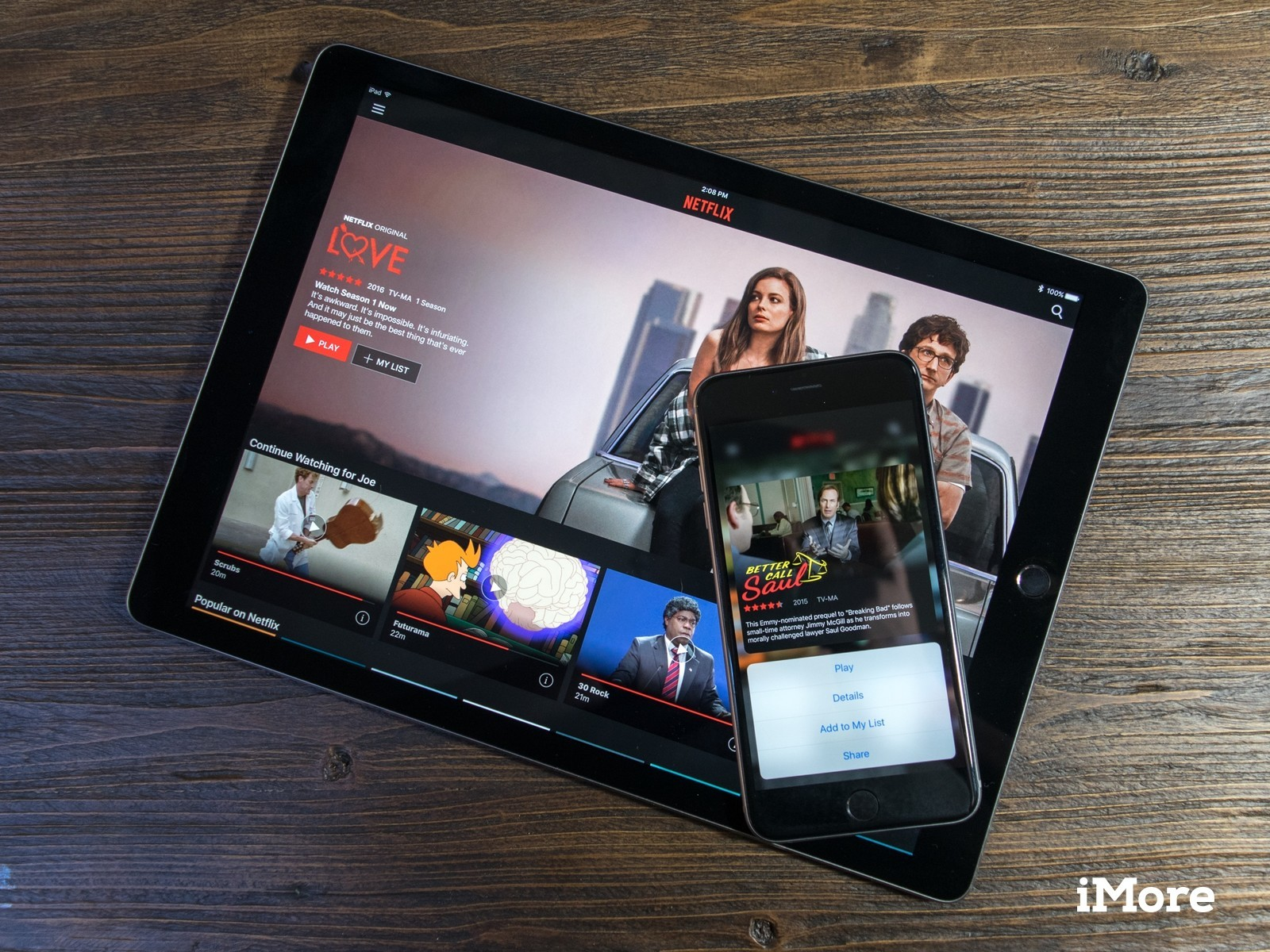 Netflix adds support for 3D Touch and iPad Pro