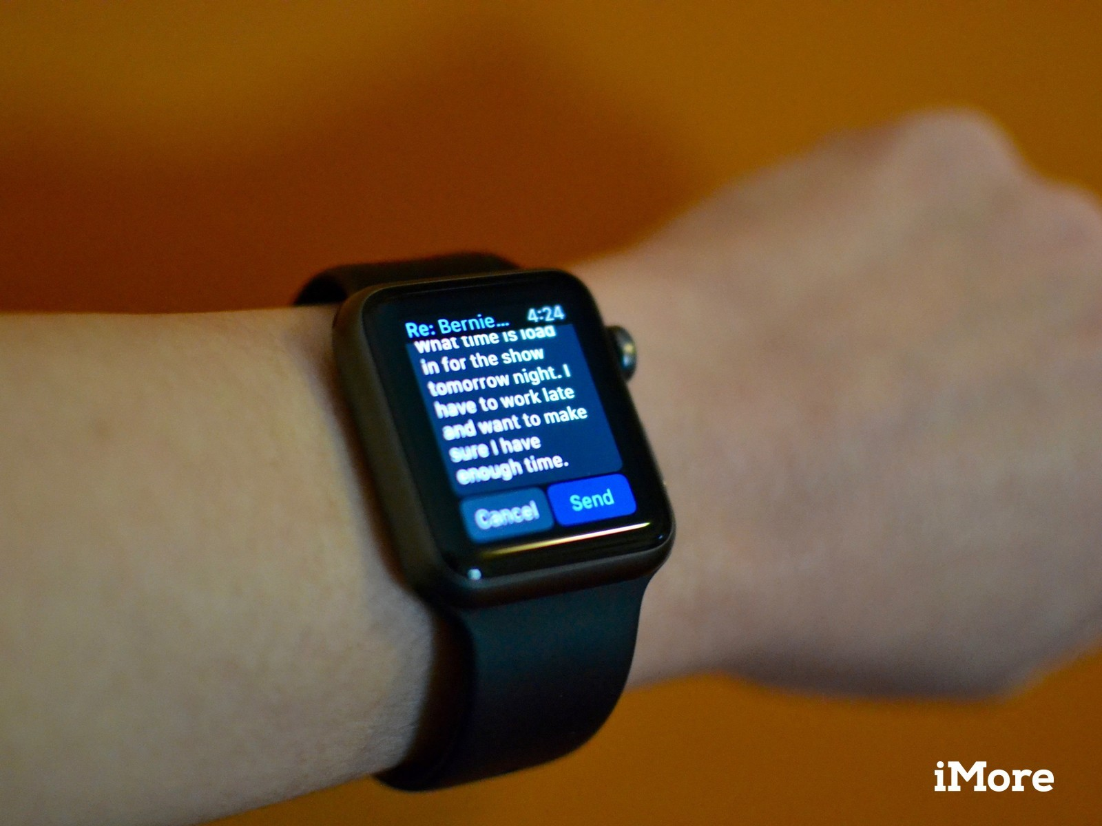 Emailing on Apple Watch
