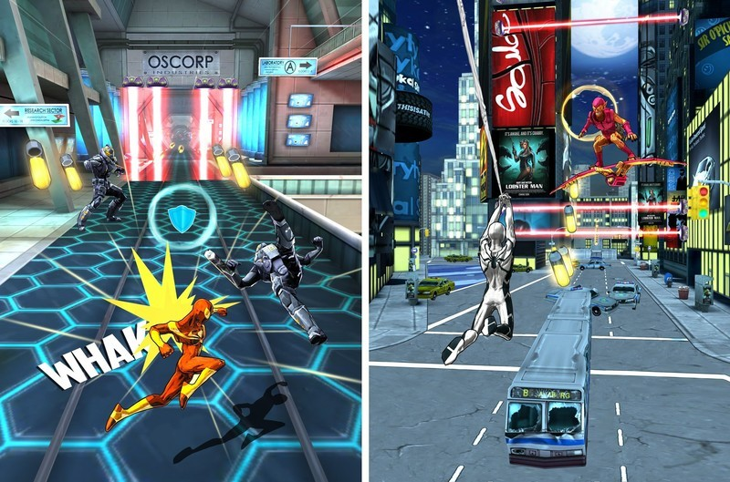 Spider-Man Unlimited screens gameplay